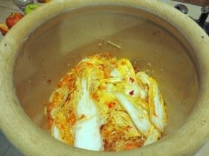 My crock of homemade kim chi!